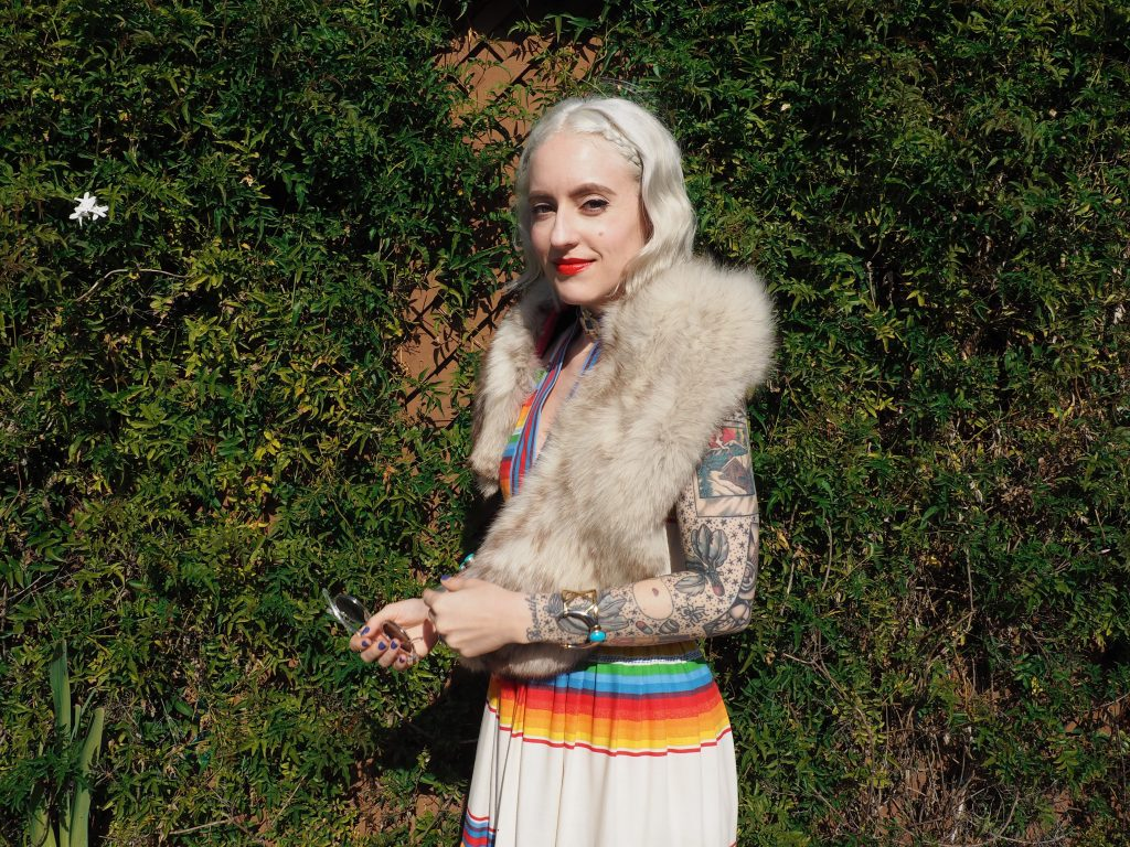 The perfect outfit for a fall wedding in the Santa Cruz Mountains