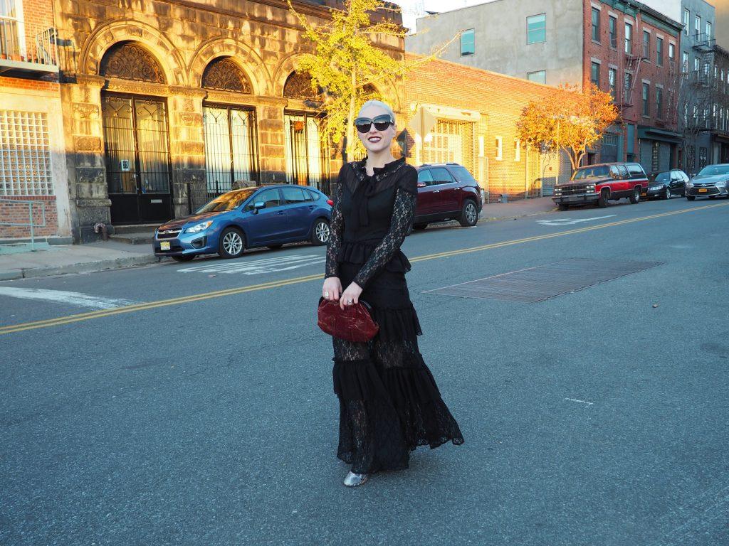 Wearing all black to a manhattan wedding