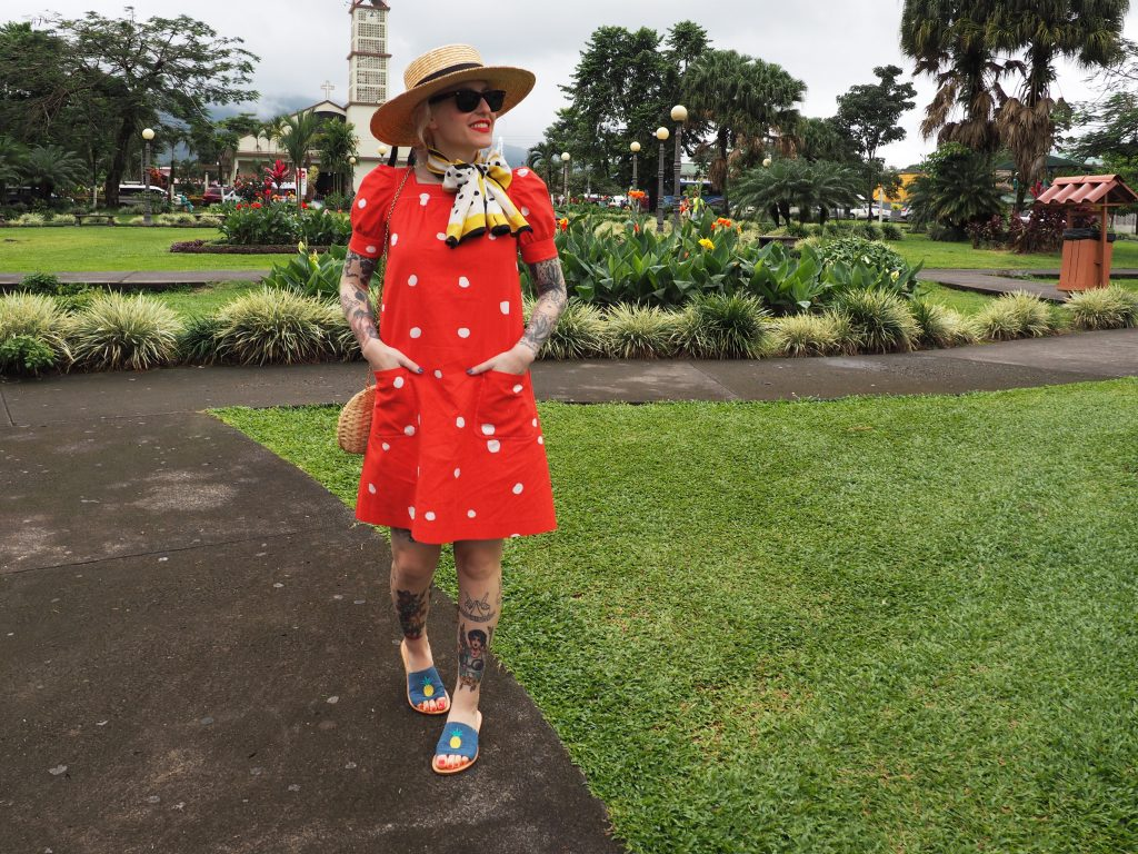 Take polka dots on vacation with this easy breezy outfit!
