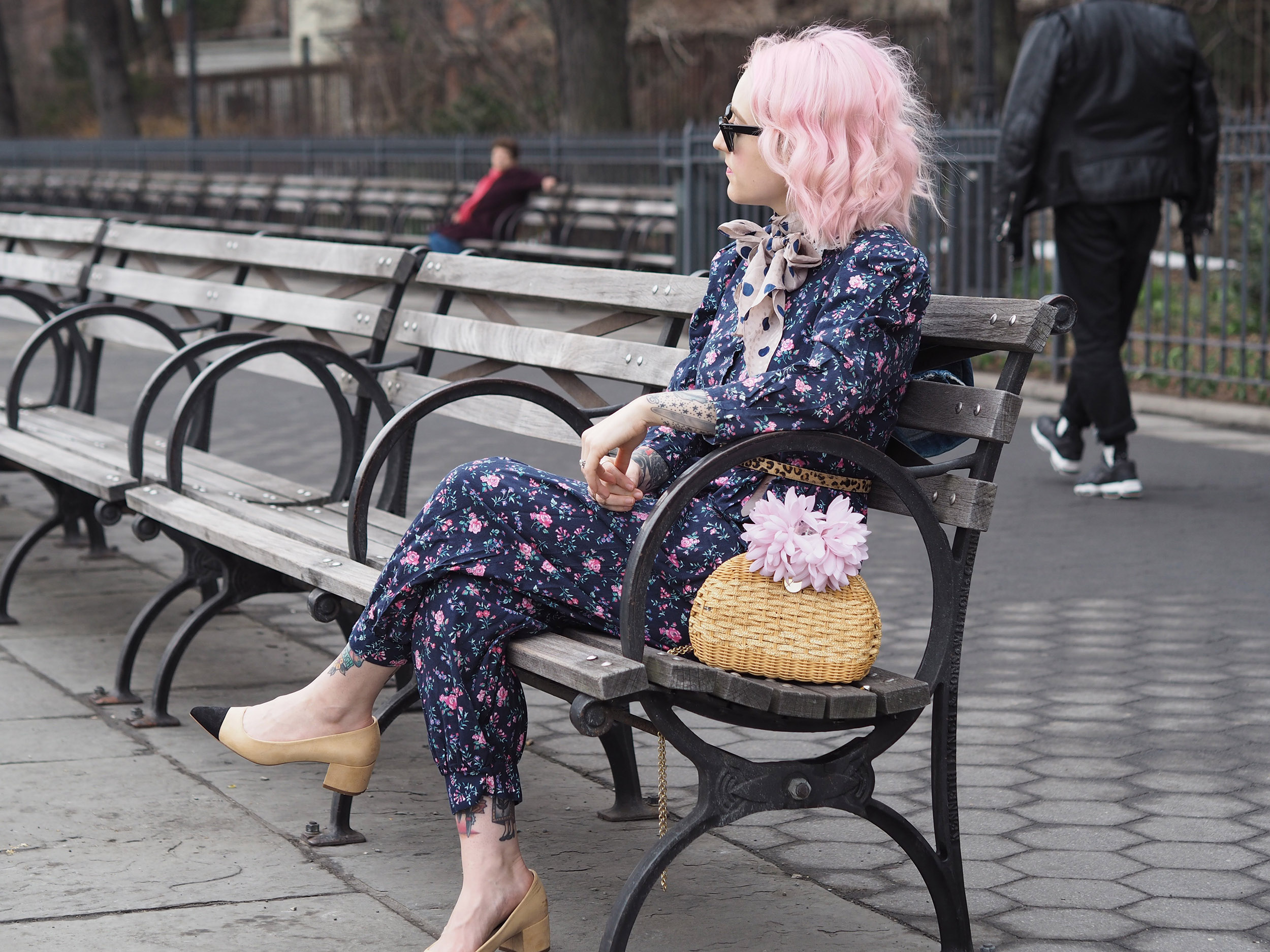 Willing spring to arrive with florals and pink hair