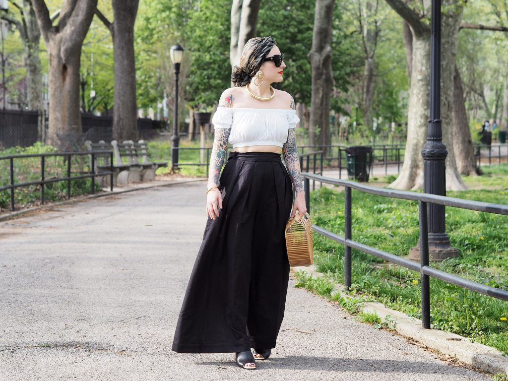 Prancing around in my new Fame & Partners wide leg pants!