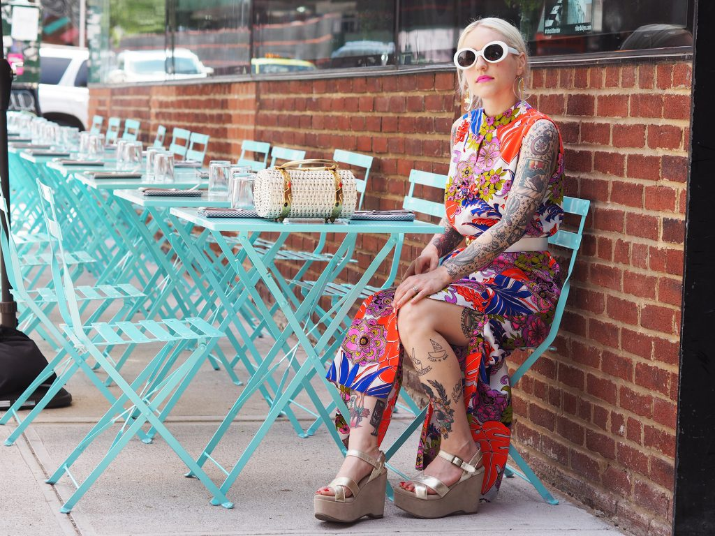 Beating the summer heat in this Pucci-esque mumu. See more on the blog!