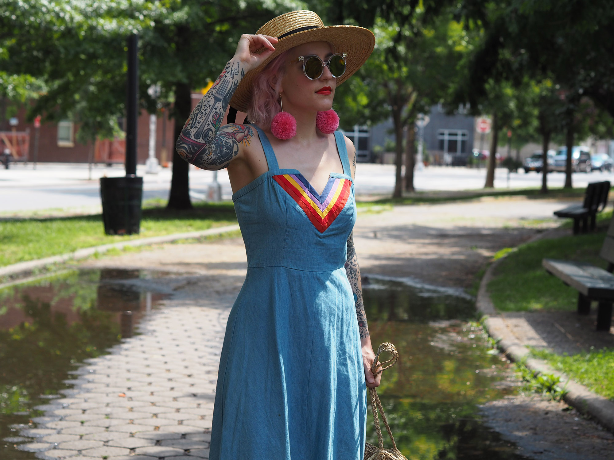 Rainbow loving in chambray Modcloth