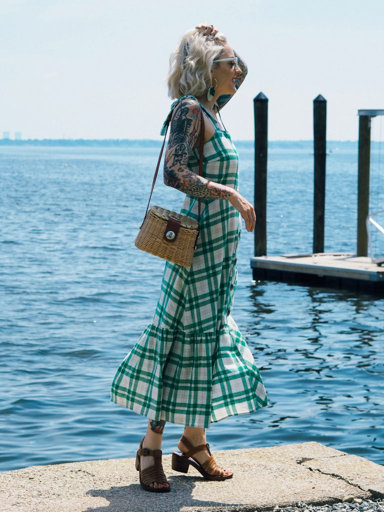 The perfect seaside summer outfit in this plaid picnic dress