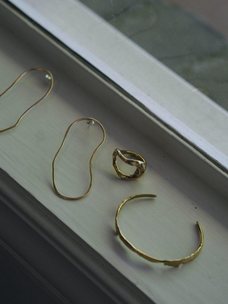 Organic shaped jewelry by Salt Grass Jewelry