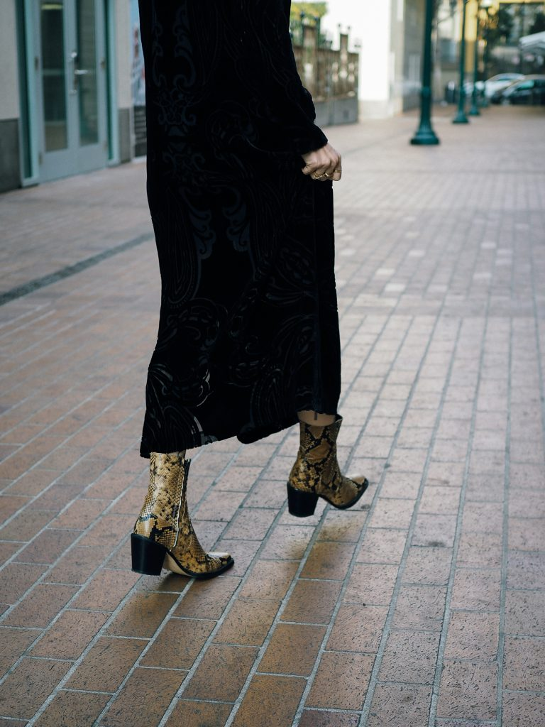 Snakeskin boot on trend for fall/winter 2018